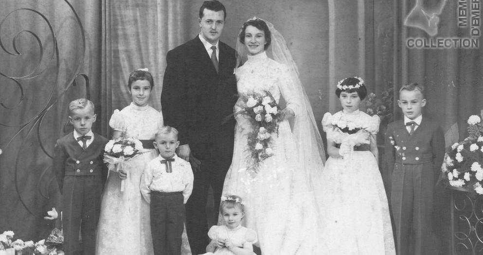 Mariage Jean DEBEAUPUIS et Anne-Marie POHIER 1958