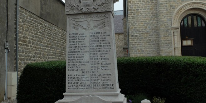 La Capelle - Monument aux morts - Jean-Baptiste POHIER